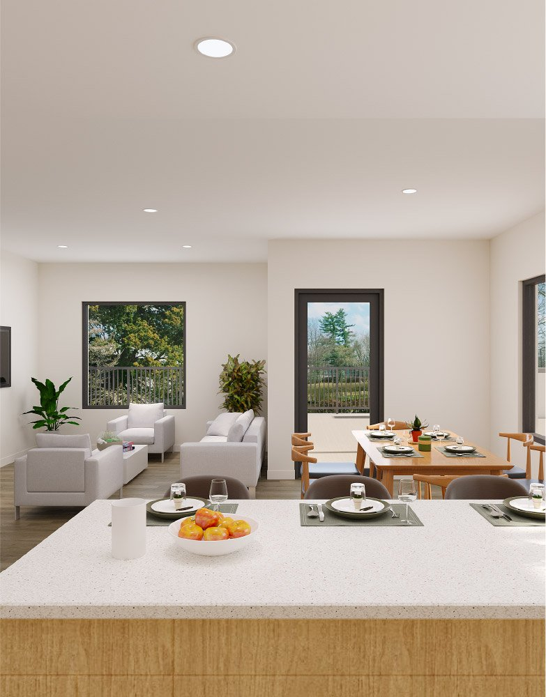 Sophisticated townhome and suite designs - Akin Kelowna