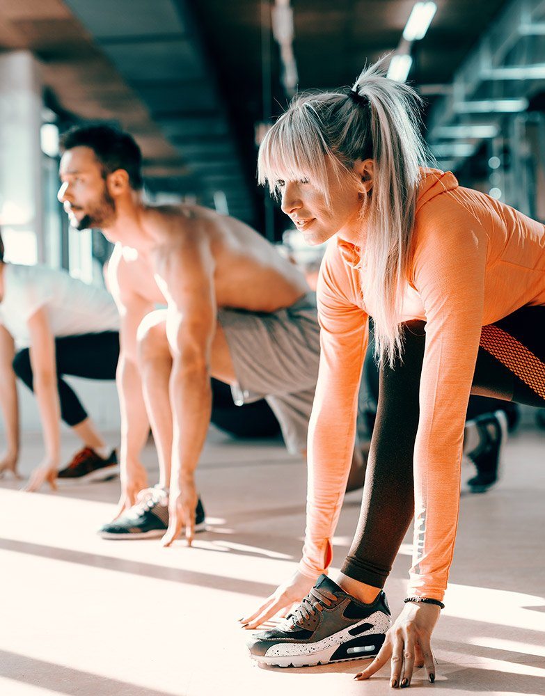 Large gym and studio at Akin allows yoga classes and room to stretch