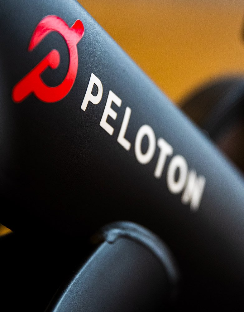Peloton exercising bikes and a full gym are standard features at Akin
